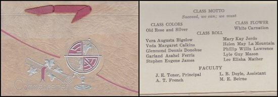 1933 Essex High School Commencement Invitation (FB Collage)