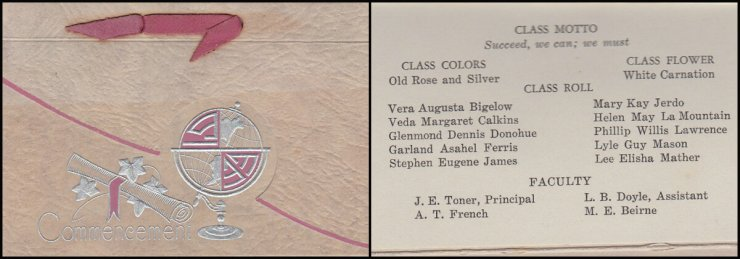 1933 Essex High School Commencement Invitation (FB Collage)