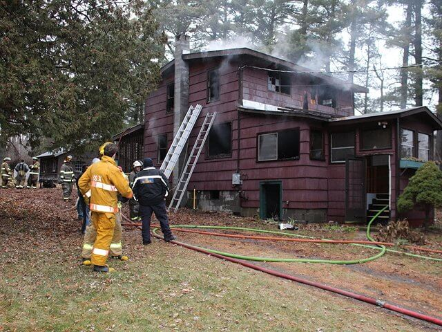 A fire gutted this home at 1793 Lake Shore Road in Essex on Dec. 9. (Photo by Keith Lobdell)