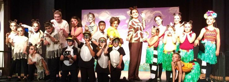 "Boquet River Theatre Festival's 2017 production of ""Madagascar"" at the Whallonsburg Grange Hall."