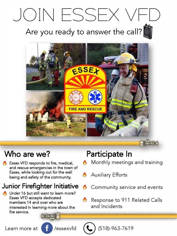 ESSEX VFD Recruitment Poster