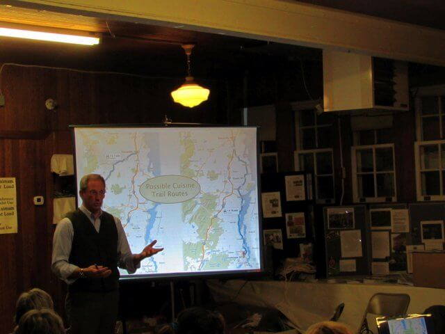 Jay White, an organizer, speaks at the Cornell Cooperative Extension Building in Westport about possible cuisine trail routes on Jan. 20, 2016.