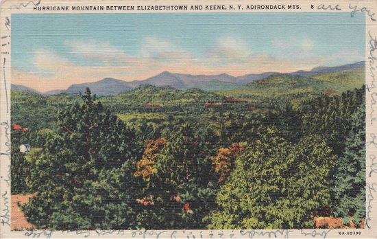 Vintage Postcard: Hurricane Mountain