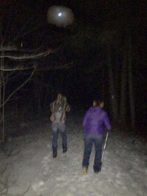 Hiking in the moonlight is magical as participants on the CATS Blue Moon Hike discovered Saturday night.