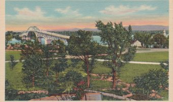 Vintage postcard: Lake Champlain Bridge
