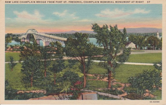 Vintage postcard: Lake Champlain Bridge