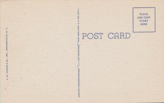 Vintage postcard: Lake Champlain Bridge (back)