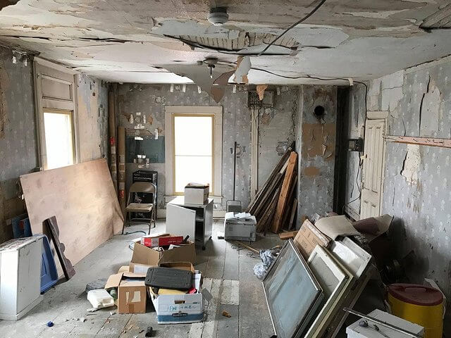 Photos of the upstairs, second-floor rooms at the Town of Essex Town Hall indicate the need for renovation. There are some 16 rooms in what was long known as Wright's Inn. Renovations and restoration of the town offices on the first floor were done in the late 1990s. (Credit: Ken Hughes)