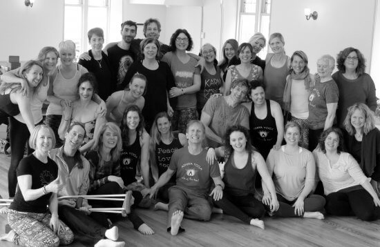 Celebration for this group as the third Module is complete of the in-depth 200-Hour Ashaya Yoga Teacher Training in Essex, NY hosted by Lake Champlain Yoga & Wellness. One more module to go in May! (Credit: ZVD photography)