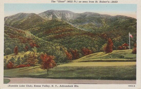 Vintage Postcard: Ausable Lake Club