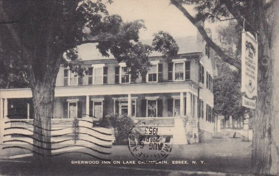 Vintage Postcard: Sherwood Inn