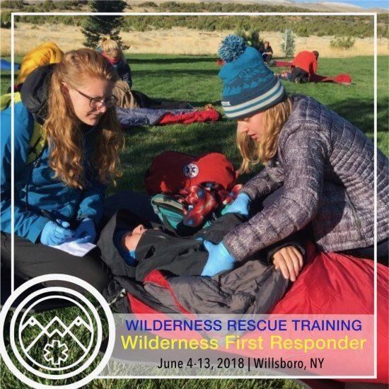 Wilderness First Responder Training Flyer