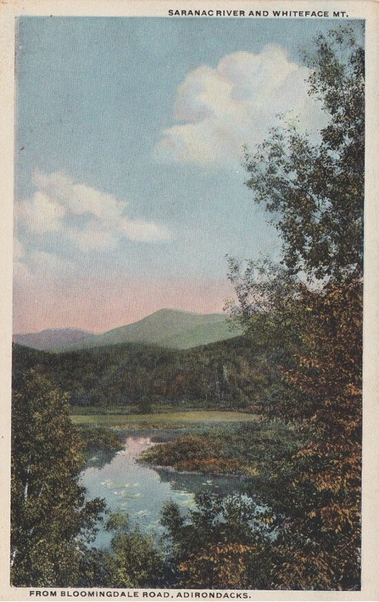 Saranac River and Whiteface Mt.