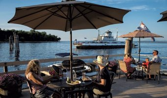 Old Dock outdoor dining (Credit: GLENN RUSSELL)
