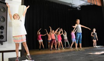 "BRTF junior actors rehearse for the upcoming production of ""Willy Wonka Jr."" (Photo by Jill Lobdell Photography)"