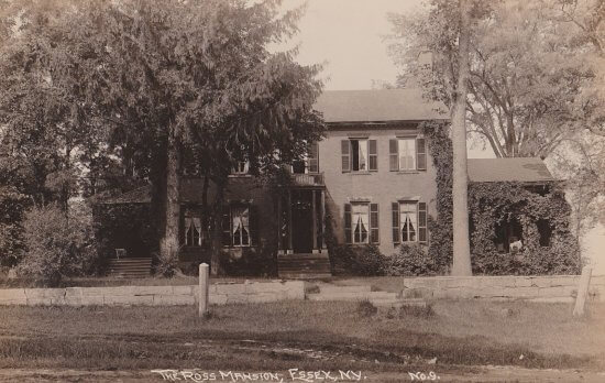 Vintage Postcard: Ross Mansion