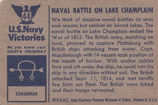 Naval Battle of Plattsburgh (back)
