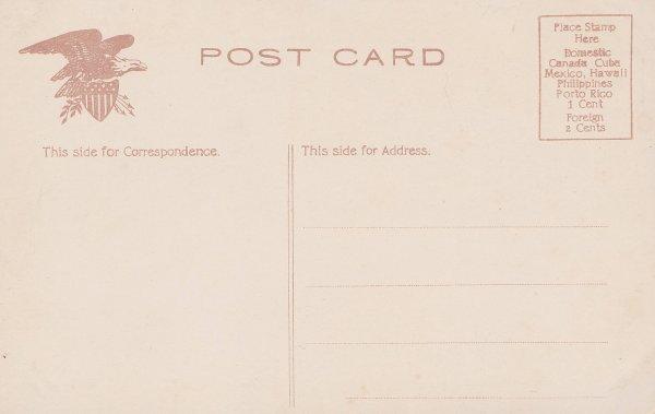 Vintage Postcard: Barn Rock (back side)