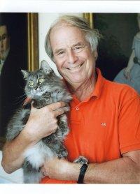 Steven Kellogg and cat