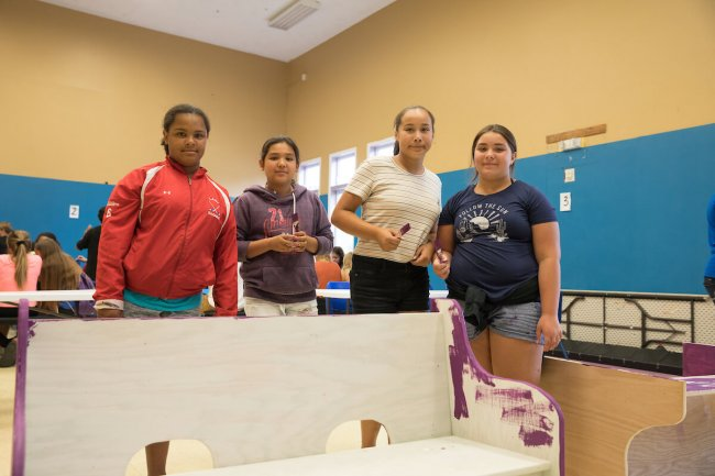 "Akwesasne Boys & Girls Club received Generous Acts funding last year for a summer ""brain gain"" program for teens, tying educational projects to Mohawk culture to keep students learning over the extended break. © Lisa Godfrey"