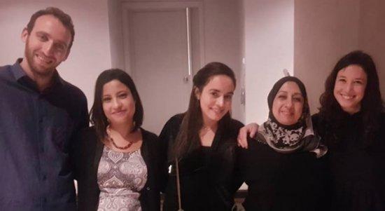McGill Fellows: (left to right) Mr. Nir Fytlovich, The Negev; Ms. Manar Nijem Assali, Jerusalem; Ms. Goni Ketain Meiri, Jerusalem; Ms. Lyn Hawari (not able to come), The Negev; and Ms. Haya Abu Kishek, Lod, Israel