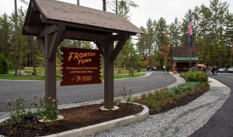 The redeveloped Frontier Town is accepting reservations for the upcoming camping season.