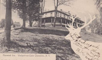Vintage Postcard: Glenwood Inn in Westport, NY