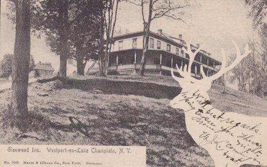 Vintage Postcard: Glenwood Inn in Westport, NY