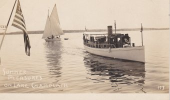 Vintage Postcard: Summer Pleasures on Lake Champlain