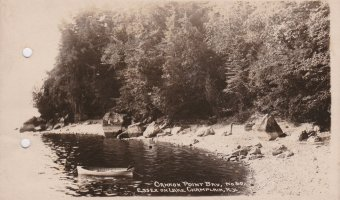 Vintage Postcard: Cannon Point Bay, Essex on Lake Champlain