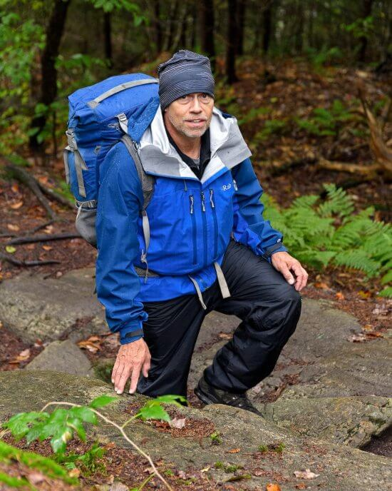 Joe Dadey exploring a potential Adirondack Hamlet-to-Hut route