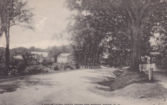 Vintage Postcard: Approaching Essex from North