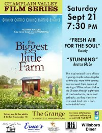 Champlain Valley Film Series Presents THE BIGGEST LITTLE FARM on Sept. 21