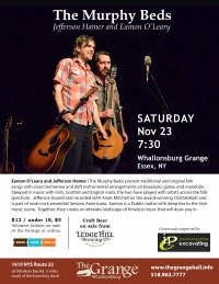 Whallonsburg Grange Welcomes the Murphy Beds on Nov. 23 to Wrap up the 2019 Music Series