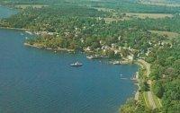 Vintage Postcard: Aerial View of Essex, NY