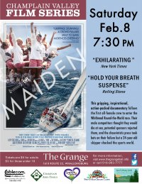 Champlain Valley Film Series Presents MAIDEN on Saturday Feb. 8