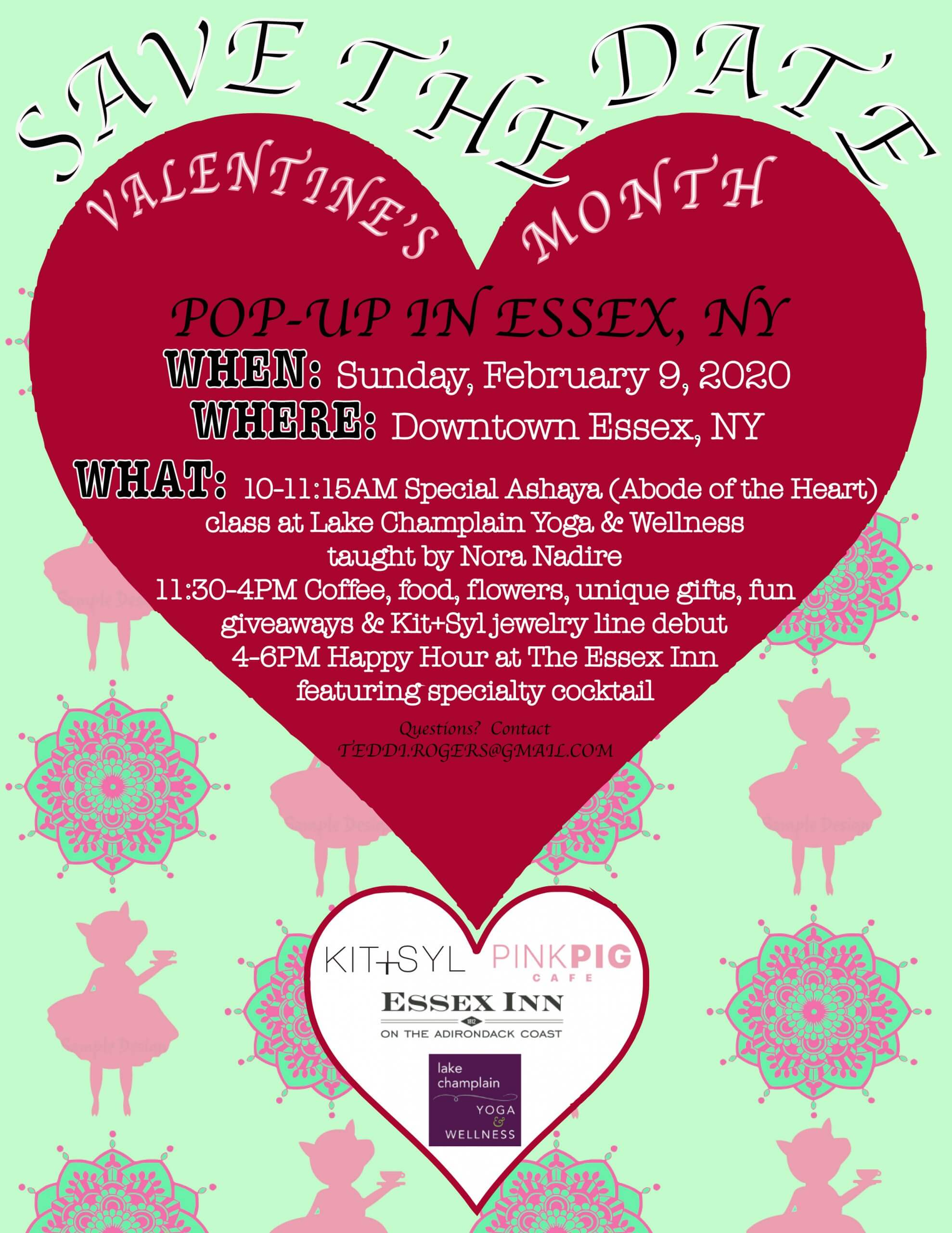 Valentine's Day Activities in Essex on February 9