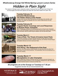 Lyceum Lecture Series Begins at Whallonsburg Grange Feb. 18