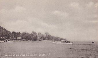 Vintage Postcard: Yachting on Lake Champlain, Essex, NY