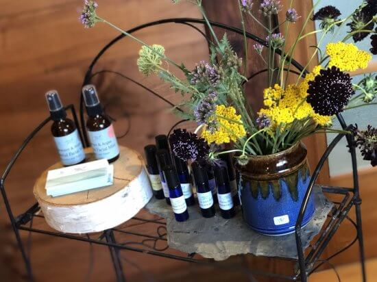 All Natural Body Products by Notes of Balance, Ceramics by Joe DiNapoli