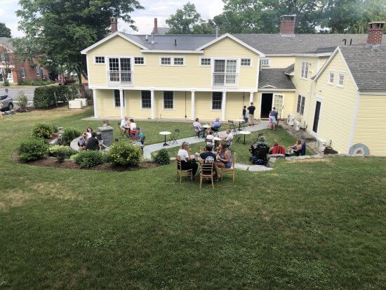 The outdoor patio at The Essex Inn