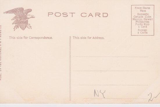 Vintage Postcard: Barn Rock (back)