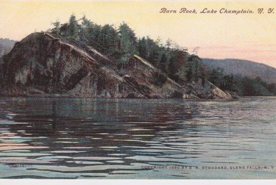 Vintage Postcard: Barn Rock