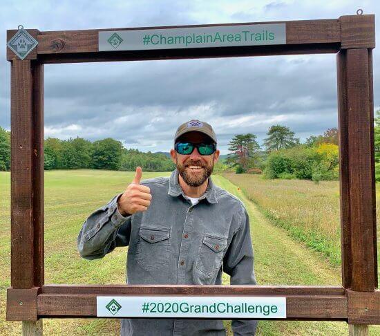 Derek in frame at Viall's Trail