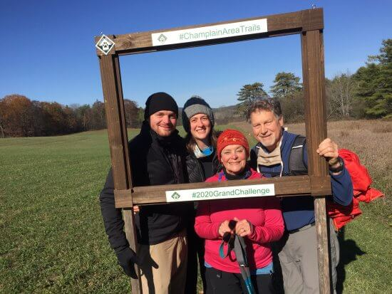 Tom Bebee and family on the Viall's Loop Trail for the 2020 Grand Challenge Hike