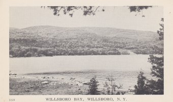 Vintage Postcard: Willsboro Bay, Willsboro, NY