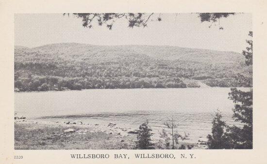 Vintage Postcard: Willsboro Bay, Willsboro, NY