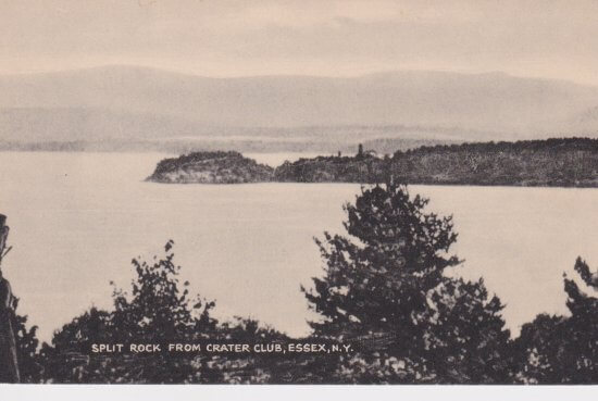 Vintage postcard: View of Split Rock from Crater Club