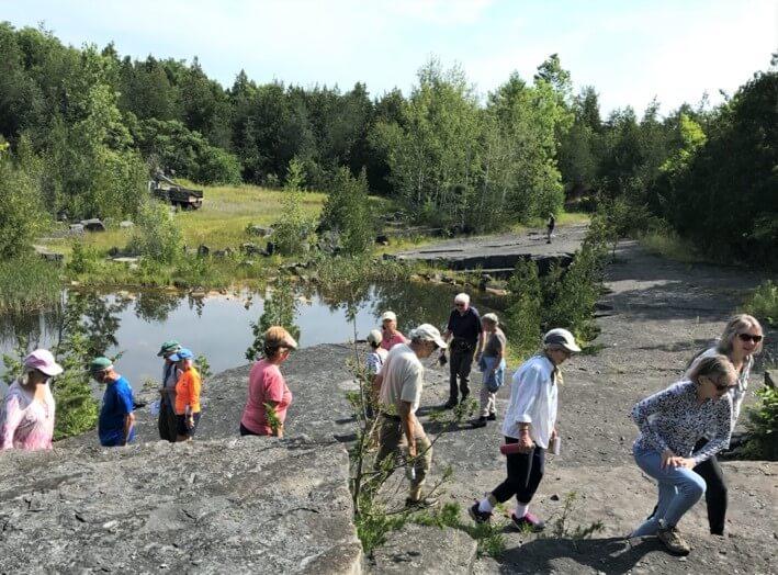 Hikers enjoying Essex Quarry