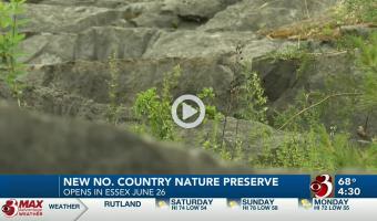 WCAX Video Still (Essex Quarry Nature Preserve Opening)